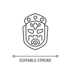 Ghost mask museum linear icon vector