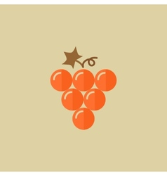 Grapes Food Flat Icon vector image