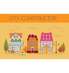 Great city map creator Colour version House vector image