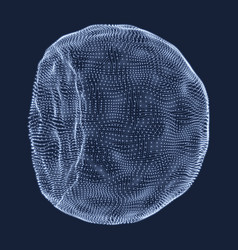 half-sphere consisting of points abstract grid vector image