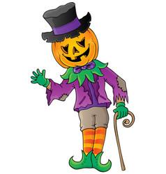 halloween theme figure image 1 vector image