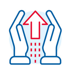 hand care delivery icon outline style vector image
