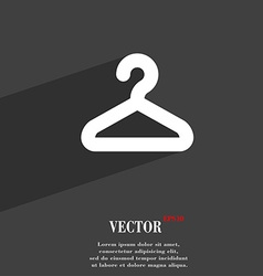 Hanger icon symbol Flat modern web design with vector image