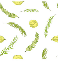 Happy sukkot seamless background vector