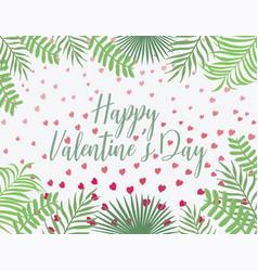 happy valentines day template invitation vector image