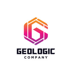 Hexagon letter g logo vector