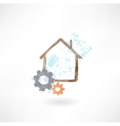 House repair grunge icon vector