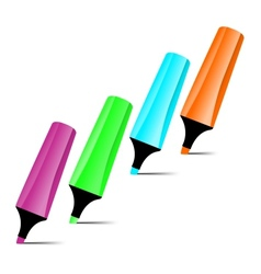Ilustrated marker set vector