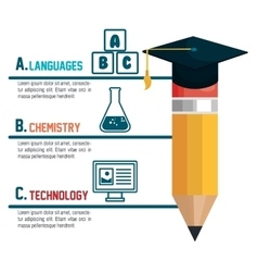 Infographic education flat icons vector