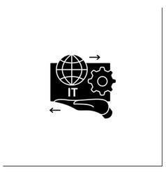 It asset management glyph icon vector