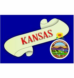 Kansas scroll vector