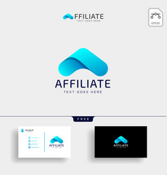 letter a accounting financial creative logo vector image