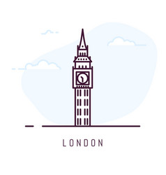 london line style vector image