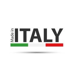 Made in italy colored symbol with italian tricolor vector