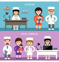 Medical office Children vaccination vector