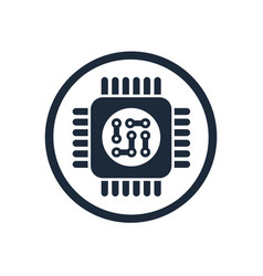 microchip chip circuit component vector image