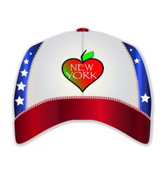 New york baseball cap vector