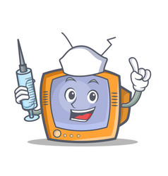 Nurse tv character cartoon object vector