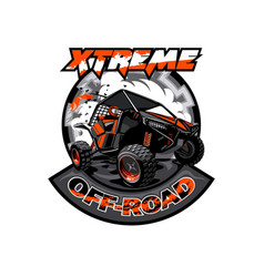Off-road atv buggy logo extreme adventure vector
