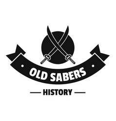 old saber logo simple black style vector image
