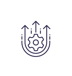 Operational excellence efficiency line icon vector
