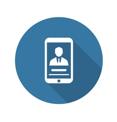 Personal Profile on Phone Icon Flat Design vector image