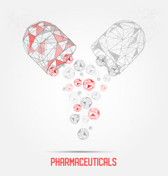 pharmaceutical capsule geometric polygonal vector image