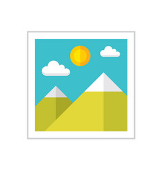 photo gallery - flat style icon vector image