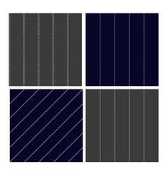 pinstripe collection seamless pattern set vector image