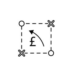 plan scheme pound arrow icon element of finance vector image