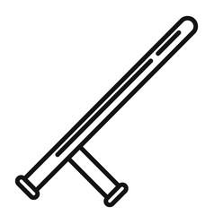policeman baton icon outline style vector image