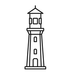 Port lighthouse icon outline style vector