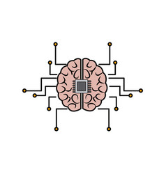 Printed circuit board human brain center of vector