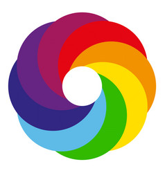 rainbow circle logo vector image