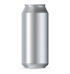 Realistic aluminum can vector image