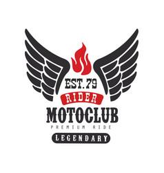 Rider motoclub logo premium ride est 1979 design vector