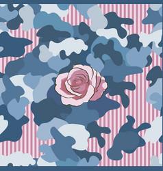 rose pink flower hand drawn hakki pattern vector image