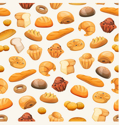 seamless bakery icons background vector image