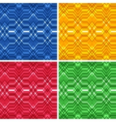 set seamless color abstract retro backgrounds vector image