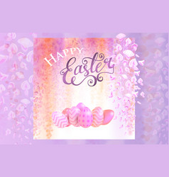 spring background with blooming wisteria vector image