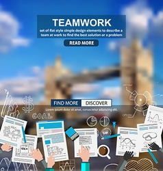 Teamwork Business concept with doodles Sketch vector image