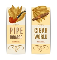 Tobacco Banners Set vector