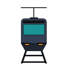 tranvia public transport vector image