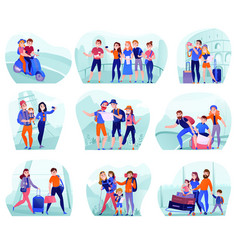 travelers compositions set vector image
