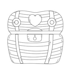treasure chest isolated icon vector image