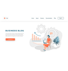 web page design template for business blog vector image