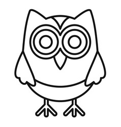 wise owl icon outline style vector image