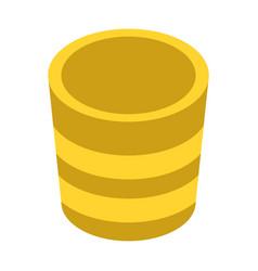 yellow plant pot icon isometric style vector image