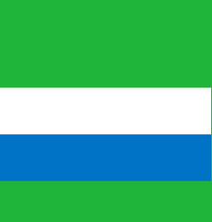 flag in colors of sierra leone image vector image