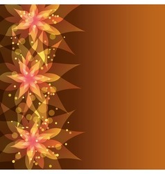 Floral background with decorative flower vector image